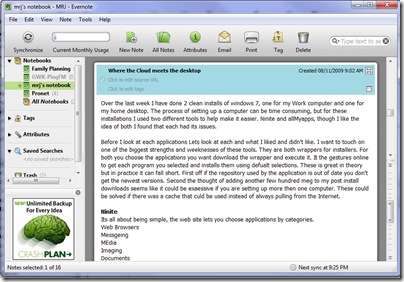 Software I use: Evernote