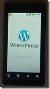 Mobile app: Wordpress