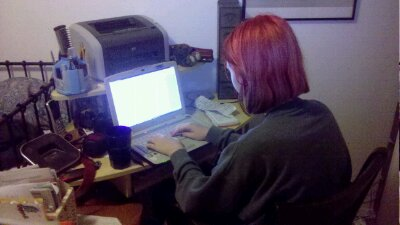 Project 365-253: Aspiring Writer at work