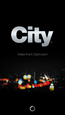 City TV Launch Screen